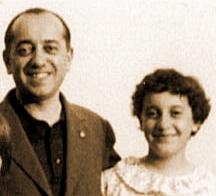 Miriana Ronchetti bambina con il padre
