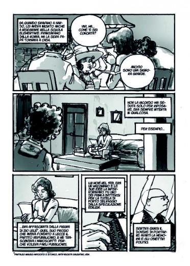 """Una tavola della graphic novel """"Nostra madre Renata Fonte"""""""