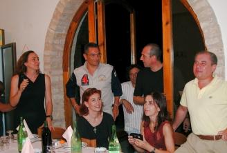 Paola Ciccioli a una cena con i compagni di scuola (un bel po' di anni fa)