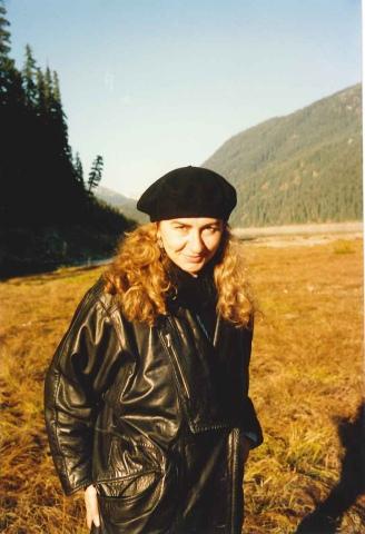 Paola Ciccioli nei dintorni di Seattle, autunno 1996 (foto di Dave Ball)