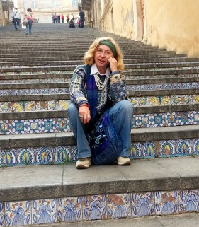 Paola Ciccioli a Caltagirone (foto di Maria Elena Sini)