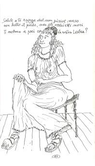 La ragazza dal non picciol naso nell'illustrazione di Gabriele Mucchi