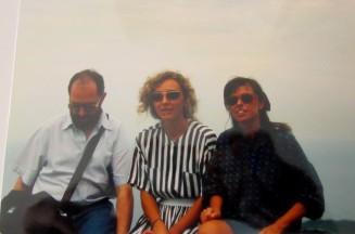 Francesco Pulitanò, Paola Ciccioli e Maria Elena Sini sul Corcovado, Rio de Janeiro 1990 (foto di Saverio Bianchi)