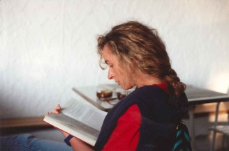 Paola Ciccioli in isolamento da lettura, anni '80 (foto di Sandro Stacchietti)