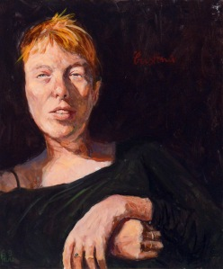 """""""Viso di Cristina"""", ritratto di Emilio Palaz"""