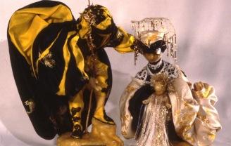 Presepio fatto a mano da Mariagrazia. Con questa immagine ha inviato i suoi auguri di Natale.