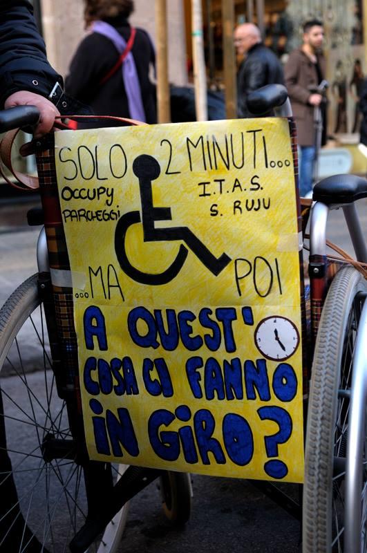 Il flash mob di Sassari (foro di Maria Elena Sini)