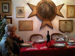 Mariagrazia a tavola (foto di Francesco  Cianciotta)