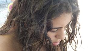 La figlia di Patrizia, Camilla, in un bellissimo scatto  della zia Alba L'Astorina durante le vacanze marchigiane  dell'estate 2013