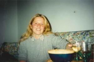 Lucia Vastano fotografata da Paola Ciccioli alla fine  degli Anni '90 nella vecchia casa milanese di Paola