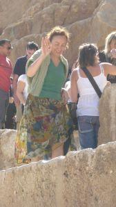 Paola Ciccioli in Egitto (foto di Carlo Fioroni)