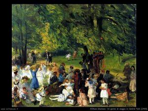 """""""Giorno di maggio a Central Park"""" di William James  Glackens (1905)"""