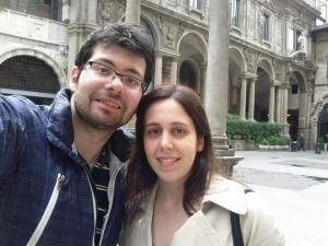Dario Lovino con la fidanzata Francesca