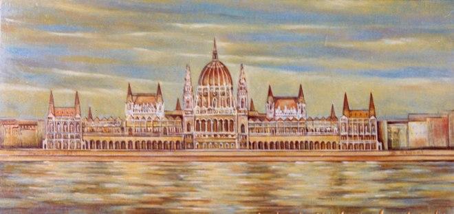 """Domenico Raucci, """"Il Parlamento di Budapest"""" (1970)"""