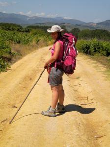 Cecilia in cammino verso Santiago de Compostela