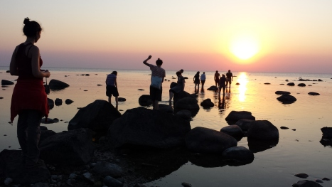 """The volunteers of Suderbyn ecovillage during the """"exploration"""" of Baltic sea. All the images of this service(article) have been taken from Giada's travel companions"""