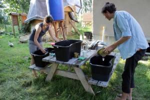 Giada, lava piatti