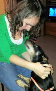 Elena con il cane