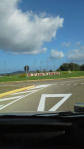 Nuvole in viaggio arrivando a Stintino. (La foto è stata postata su Facebook da Patrizia L'Astorina)