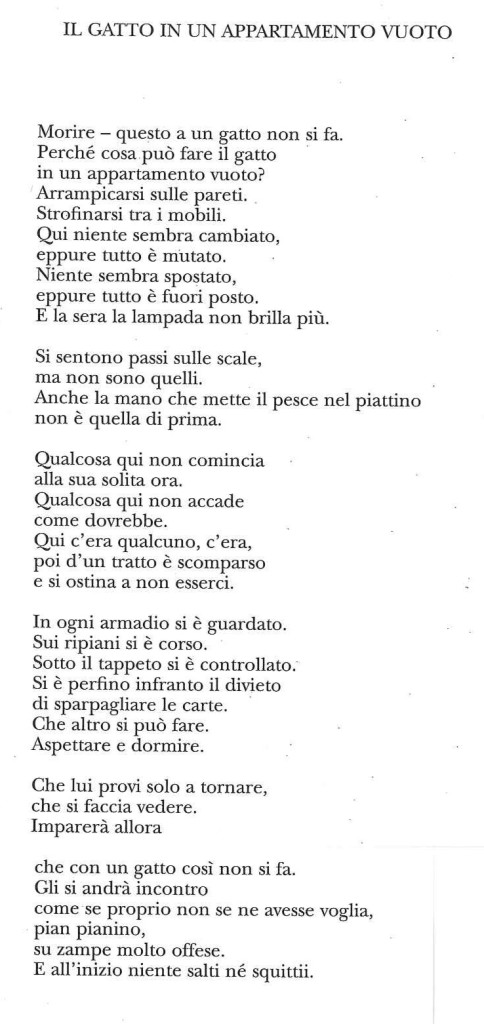 Szymborska in Italiano
