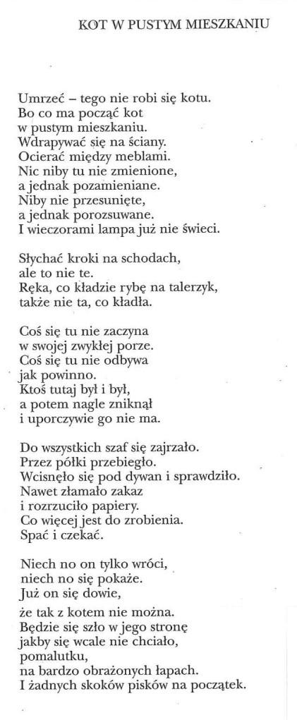 Szymborska in polacco
