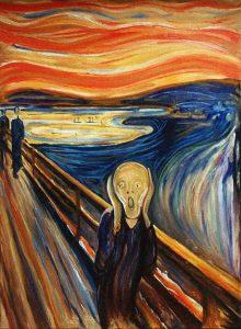 """Edward Munch, """"L'urlo"""" (1893)"""