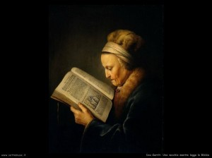 dou_gerrit_516_old_woman_reading_a_bible
