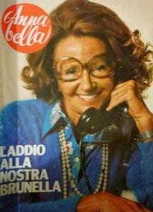 La copertina di Annabella del 25 gennaio 1979 dedicata a Brunella