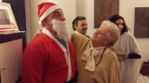 Mariagrazia con Babbo Natale