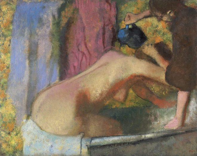 "Edgar Degas ""Femme au bain"""